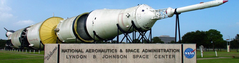 Johnson Space Center Welcome Sign