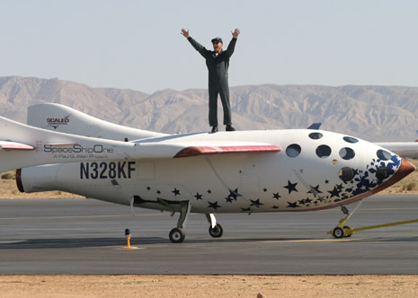 "Unlike other spacecraft, ""SpaceShipOne"" depended on an extraordinary degree of stick-and-rudder pilot skills. In many years of close collaboration, Melvill (above) and designer Burt Rutan created and tested a stunning variety of pioneering aircraft"