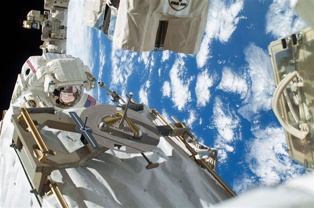 NASA astronaut Rick Mastracchio during his spacewalk.