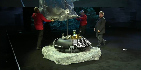 Moon Express unveils its MX-1 Lunar Lander at AU2013