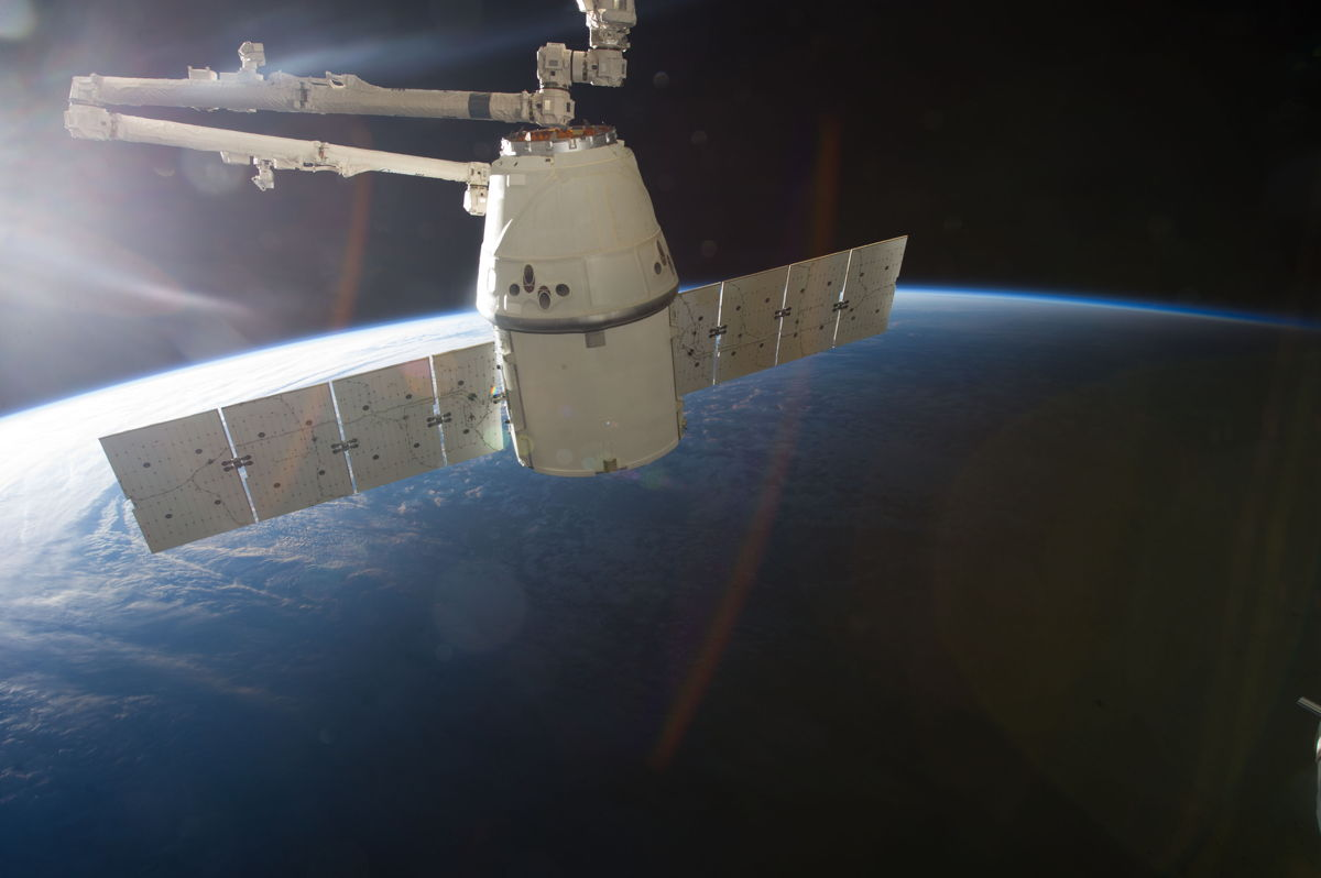 This image is one of a series of still photos documenting the process to release the SpaceX Dragon-2 spacecraft from the International Space Station on March 26, 2013. Credit: NASA